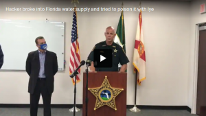 A hacker broke into a Florida town's water supply and tried to poison it with lye, police said