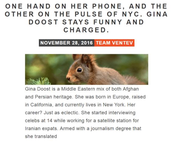 Gina Doost Q&A blog post for Ventev Mobile