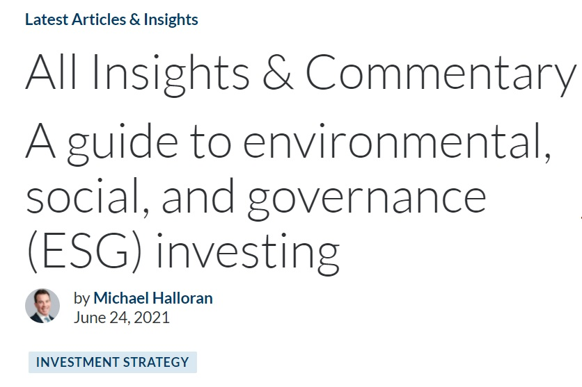 Climate Week ESG United Nations U.N. General Assembly environmental social governance content marketing sustainable investing