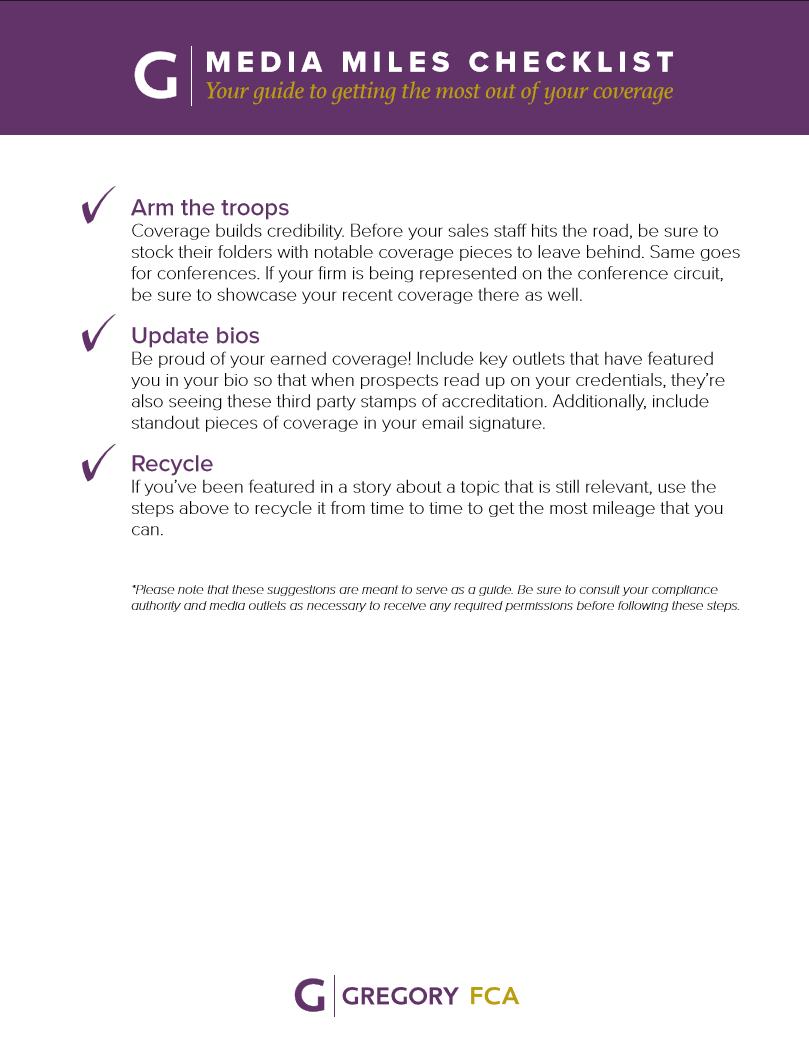 Media Miles Checklist (Page 2)